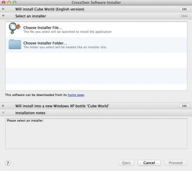 install cube world on mac