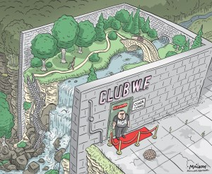 "Editorial Cartoon by Graeme MacKay, The Hamilton Spectator - Thursday May 12, 2016 Want to visit Webster's Falls? Be ready to pay $15 The Hamilton Conservation Authority has hiked its fees at Spencer Gorge/Webster Falls Conservation Area in an effort to curb the influx of weekend visitors. ""The local environment is taking a pounding,"" said chief administrative officer Chris Firth-Eagland who estimates the park has seen more than 3,000 people atÊa time during a peak weekend Ñ the park's estimated capacity. He said conservative estimates suggest the park had 140,000 visitors in 2015, up from about 80,000 two years earlier. The increased human activity not onlyÊendangers a fragile ecosystem, including century old trees, ""sensitive plant regimes,"" and bird species like the recently departed Louisiana Waterthrush, it hasÊalso created traffic and parking issues for locals. ""The place is gridlocked when the leaves change colours,"" said Firth-Eagland.Ê As one step in the solution, said Firth-Eagland, the HCA has aligned its pricing to be similar to prominent HCA attractions like Christie Lake, Dundas Valley,ÊValens Lake and Fifty Point. As of May 21, visitors will pay a $10 parking fee and $5 per person to gain access to the Spencer Gorge/Webster Falls park. TheÊrevised fee schedule also applies to the Tew Falls parking area and site. Between May 21 and Oct. 31, HCA membership passes will not gain free admittance on weekends. In all other HCA conservation areas the membershipÊpasses will remain valid on weekends and admittance fees appear to remain unchanged. The City of Waterfalls Initiatives founder Chris Ecklund says the move by the HCA wasn't surprising. ""For the waterfall initiative as a whole, the Number 1 complaint is the cost of admission to the HCA properties in general,"" said Ecklund. ""We have peopleÊsaying they can't afford it because they're on a fixed income. ""This cost is insanity.Ó (Source: Hamilton Spectator) http://www.thespec.com/news-story/65479"