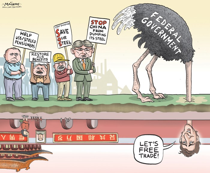 """By Graeme MacKay, The Hamilton Spectator - Wednesday August 24, 2016 Locals outraged at OttawaÕs Òdeafening silenceÓ on steel industry Union leaders, Opposition MPs and even the Chamber of Commerce are pressing the federal government to help Canada's struggling steel industry. Two Hamilton Members of Parliament, three chambers of commerce and union leaders at the local and provincial levels separately have called for help for the industry and especially for retirees and workers in Hamilton. NDP MPs Scott Duvall (Hamilton Mountain)Êand Dave Christopherson (Hamilton Centre) have written to Economic Development Minister Navdeep Bains, saying the federal government has stayed on the sidelines too long. """"To date, your government has not been tangibly involved in any way to help protect the jobs, benefits and pensions of current and former employees of USSC/Stelco despite commitments previously made by colleagues and the Prime Minister"""" they wrote. """"Workers, pensioners, the business community and the City of Hamilton have all appealed for your help. So far, you and your government have been missing in action.Ó As a start, they want the government to release the """"secret deal"""" that ended a lawsuit against U.S. Steel for breaking the production and employment promises it made to get government approval for the acquisition. They also back a call by the United Steelworkers union for a public inquiryÊinto Canadian bankruptcy law they say favours creditors at the expense of workers and retirees, and the 2007 takeover of Stelco by U.S. Steel. Duvall has raised the issue in ParliamentÊseveral times. U.S. Steel Canada, the former Stelco, has been under creditor protection since Sept. 16, 2014. It is seeking a buyer for the mills in Hamilton and Nanticoke. On the business front, chambers of commerce in Hamilton, Windsor and Sault Ste. Marie are taking a joint resolution to the Canadian chamber's national convention calling for a policy to protect the industry from unfair fo"""