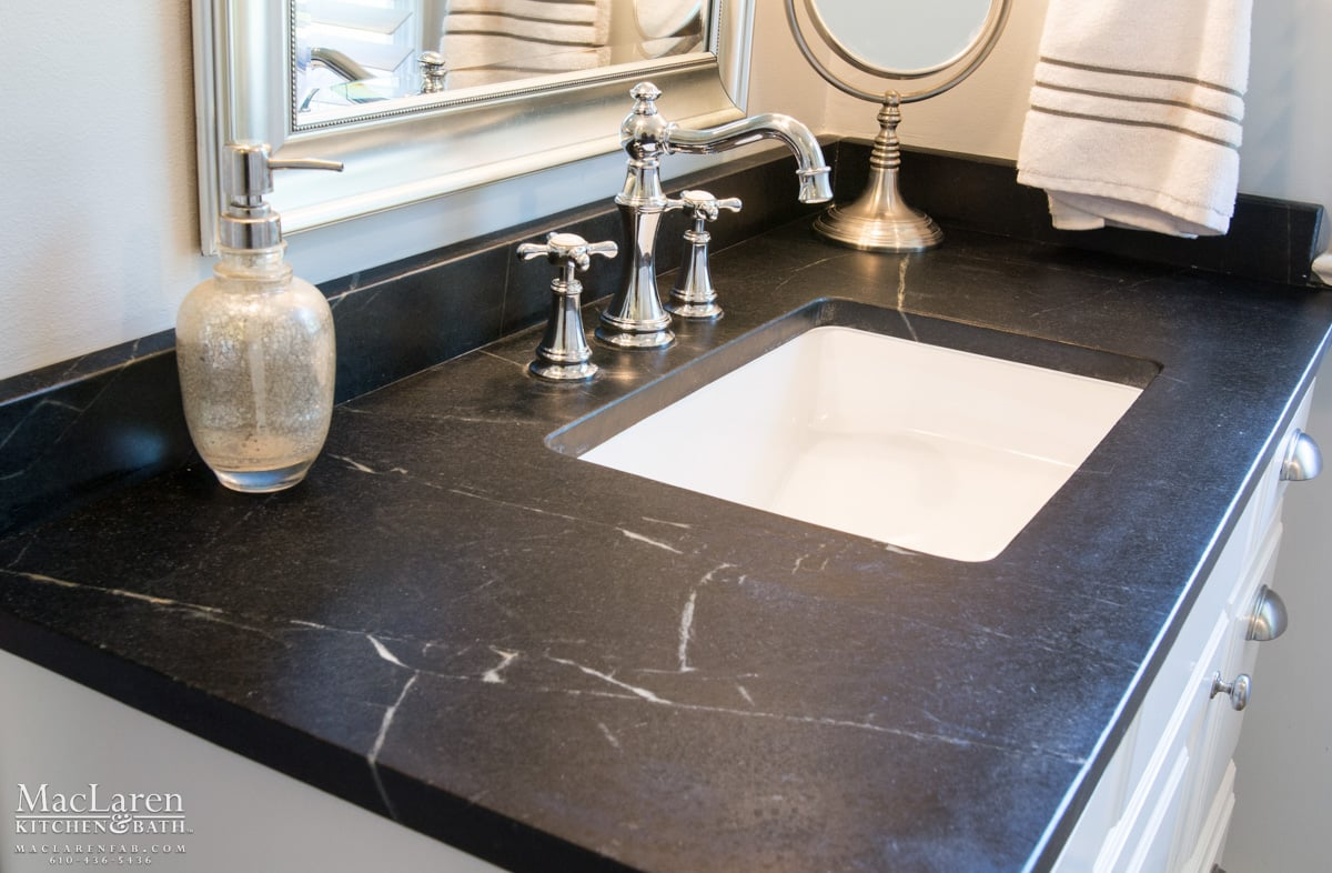 Granite Countertops West Chester Pa Classic Black And White Master Bathroom Newtown Square Pa