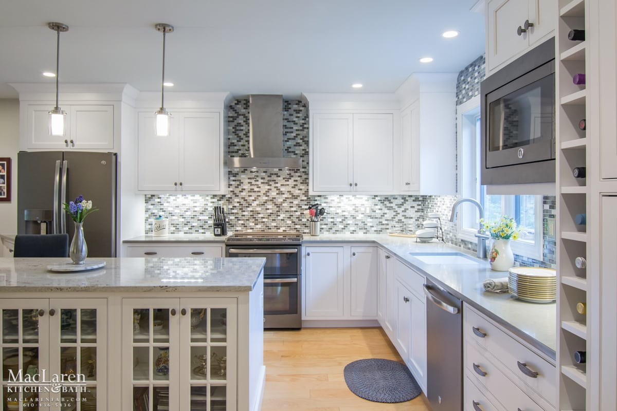 Granite Countertops West Chester Pa Transitional Granite And Quartz Grey Scale Kitchen