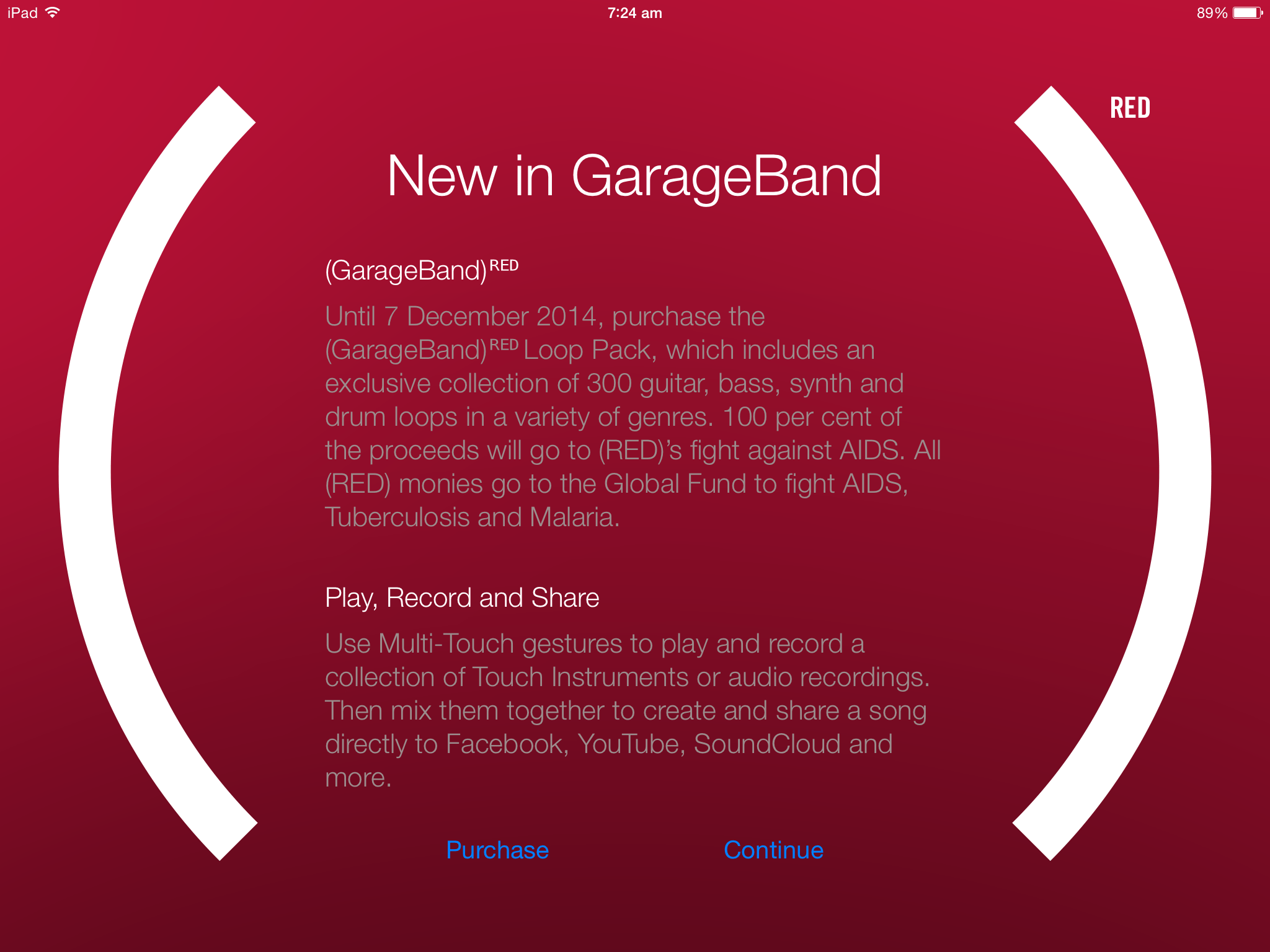 Fan Garageband Red Garageband Loops Iphone 6 App Surge All The Red Ios Deals