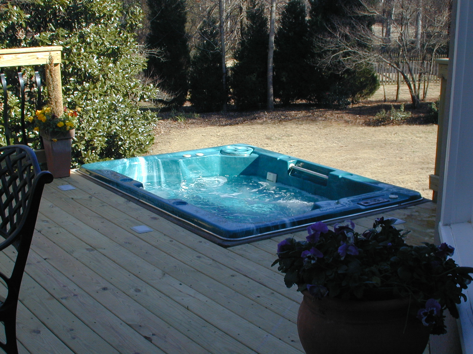 Beste Inbouw Zwembad Central Ga Sunken Hot Tub Decks Archadeck Of Central Ga