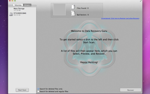 Mac Data Recovery with Data Recovery Guru