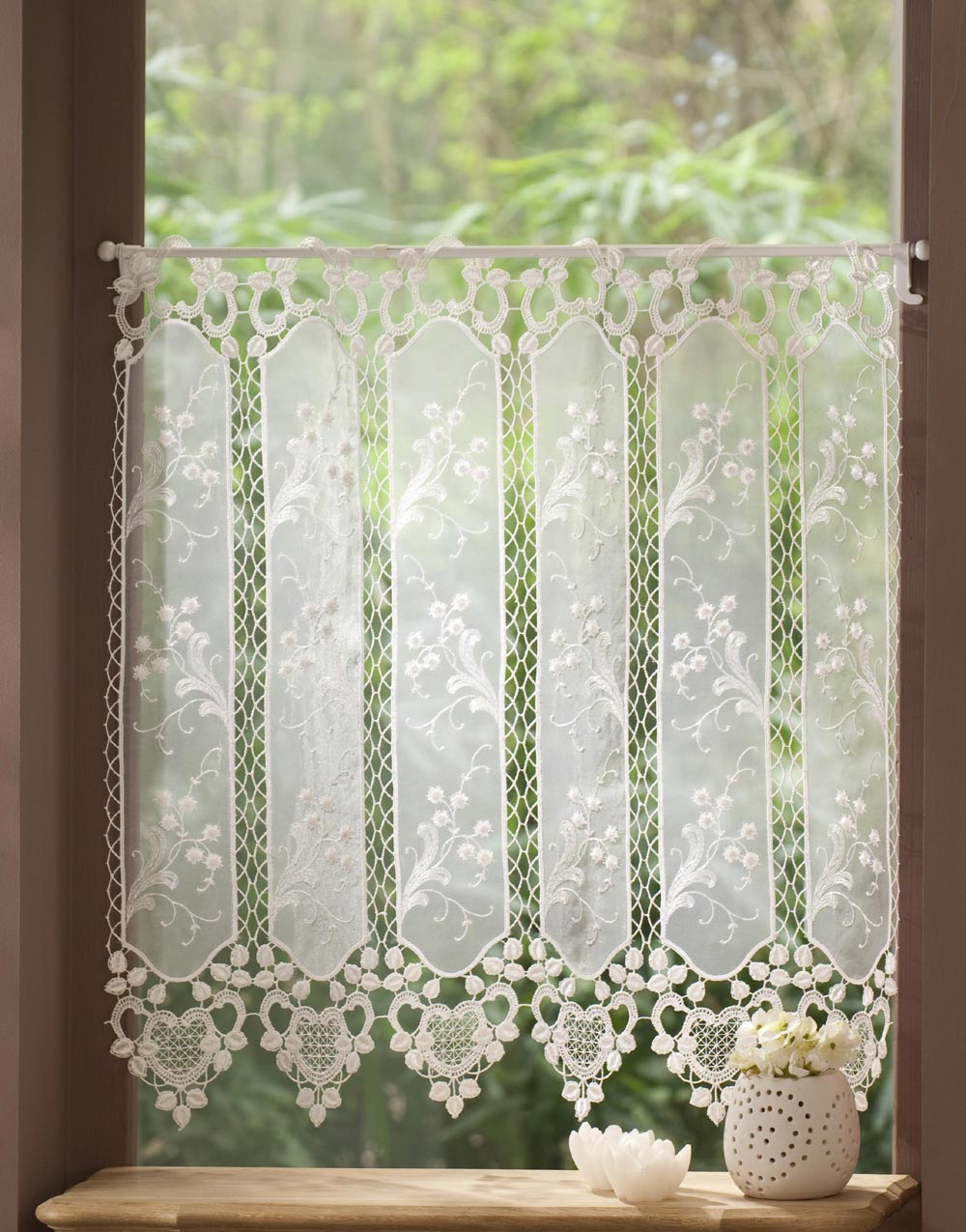 French Lace Curtains Macrame Lace Cafe Curtains