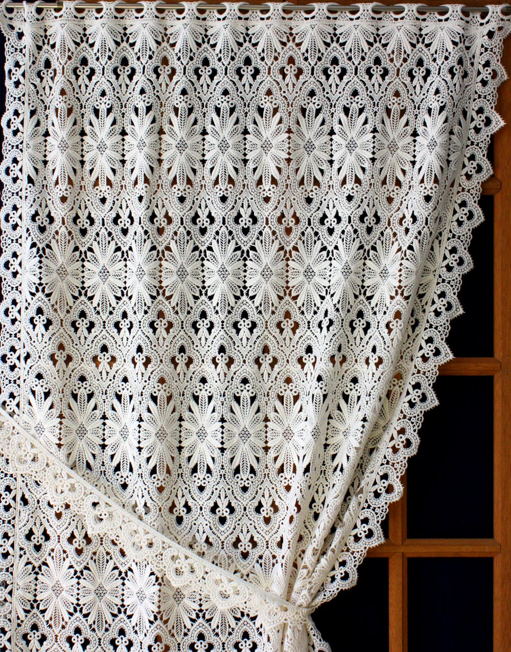 French Lace Curtains Macrame Lace Curtains Avaible In Cutom Size Direct From French