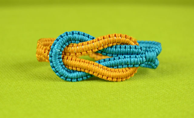 Infinity Square Knot Bracelet Tutorial