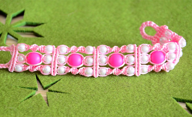 Triple Spiral Knot Bracelet With Beads