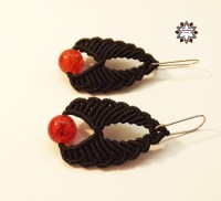 Tutorial: Red beaded earring  Macramotiv