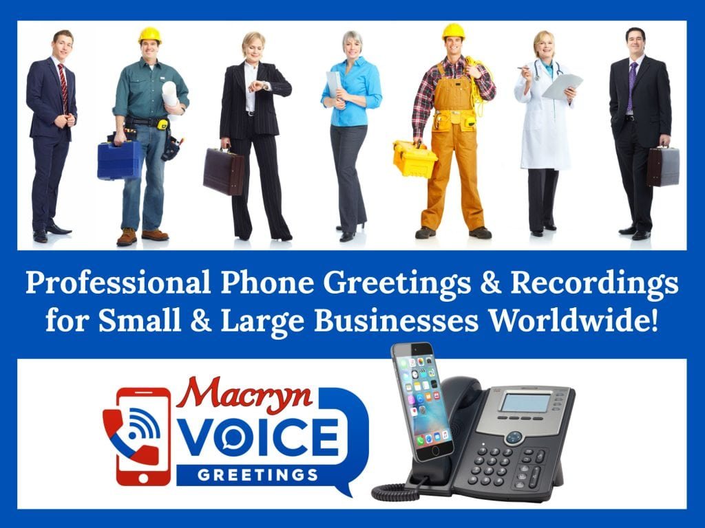 Pro Voice Recordings For Business Telephone Systemmobile Phone