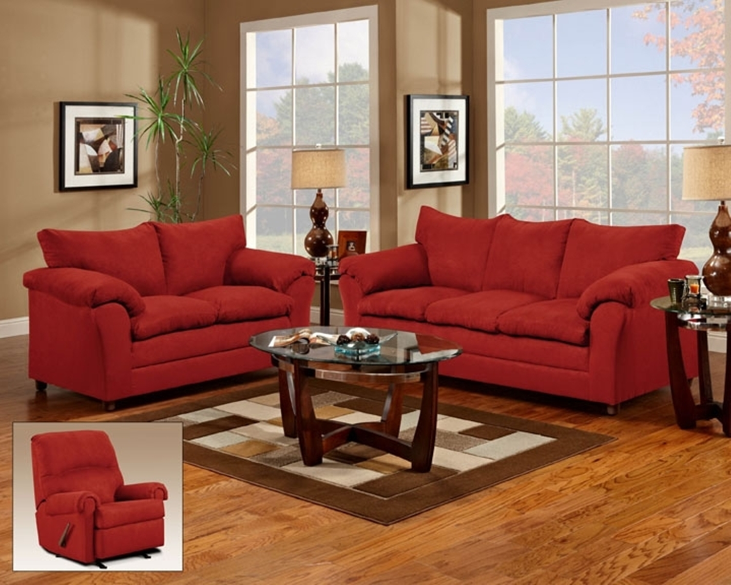 Sofa L 2 X 2 Dickson 2 Pc Sofa And Loveseat