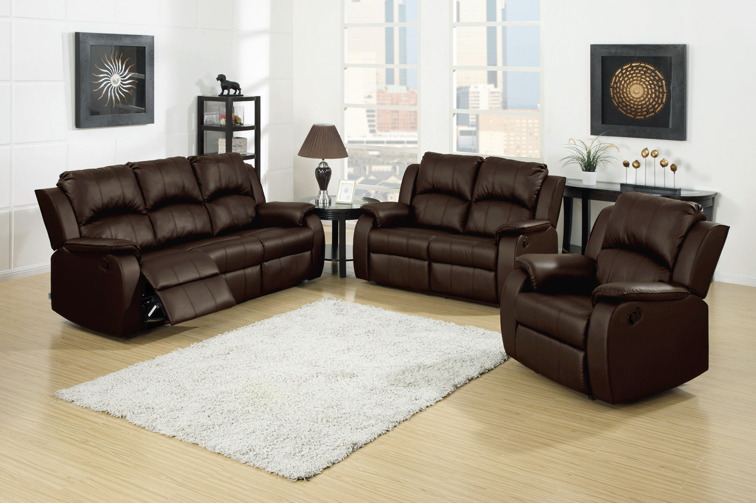 Sofa Berlin Berlin 3 Pc Leather Reclining Sofa Loveseat And Recliner