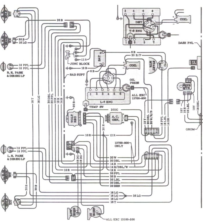 1970 chevelle tail light wiring diagram