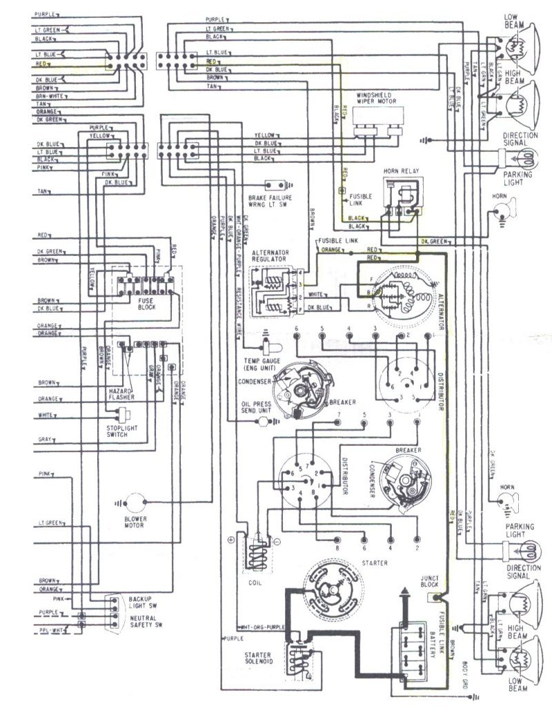 68 chevelle no dash lights wiring diagram