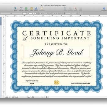 Yearly Calendar Template for Pages and PDF - MacTemplates - gift certificate template pages