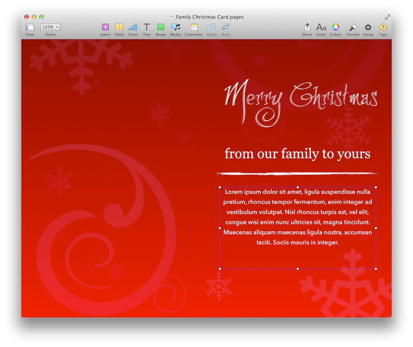 Family Christmas Card Template for Pages - MacTemplates