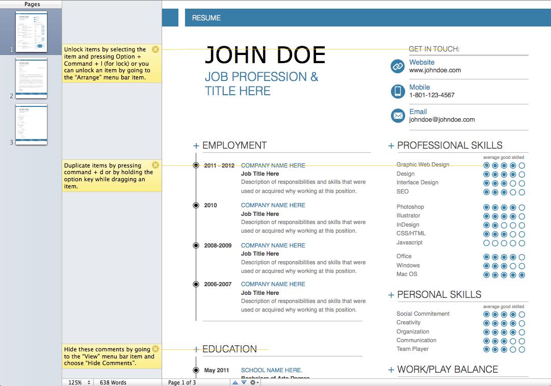 ms office templates resume modern