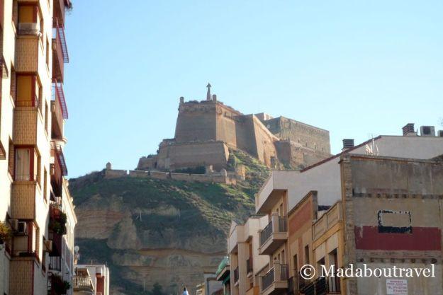 Vistas del castillo de Monzón