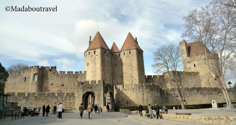 Entrada a Carcassonne por la Porte Narbonnaise