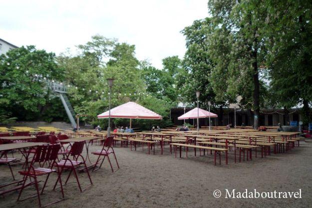 Biergarten del restaurante Prater Garten