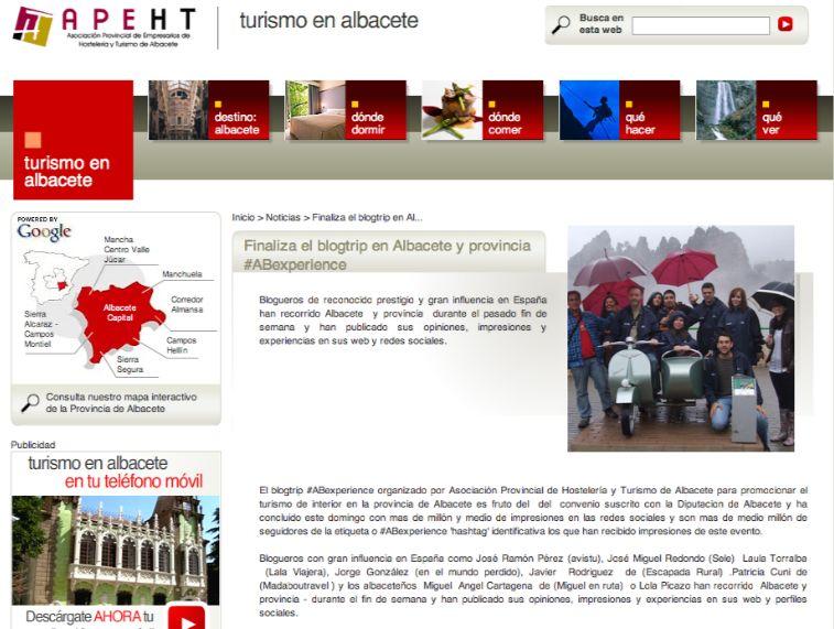 Madaboutravel en la web de Turismo de Albacete