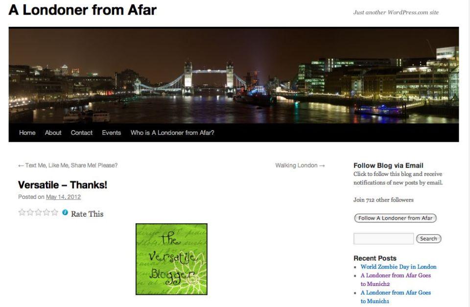 Blog Londonder from Afar