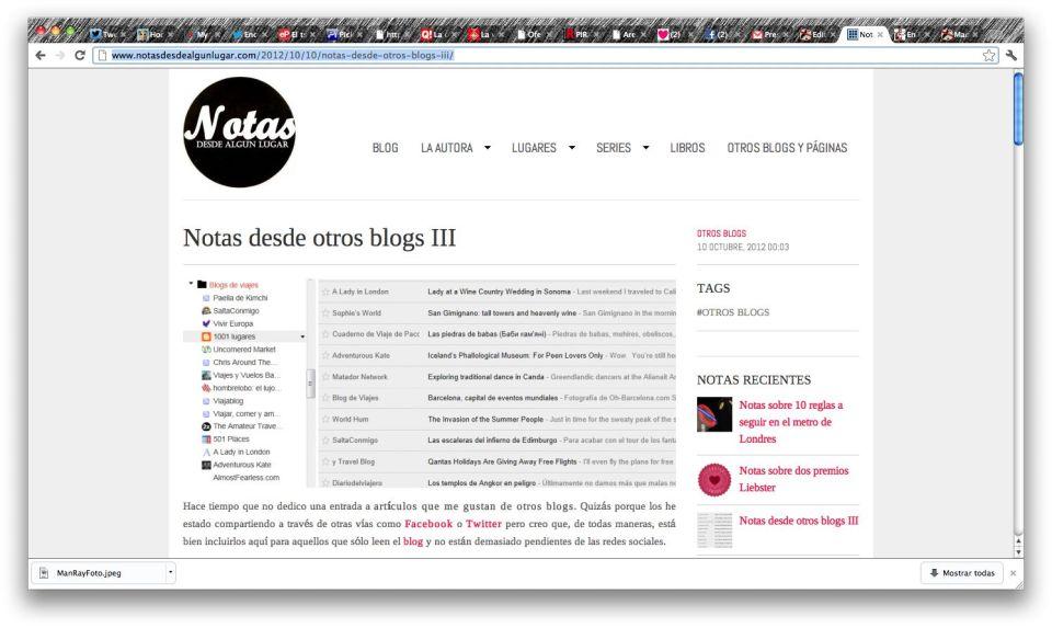 Blog notas desde algún lugar