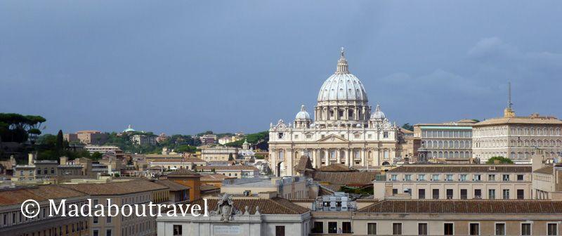 Vistas de Ciudad del Vaticano desde el Castillo de Sant'Angelo
