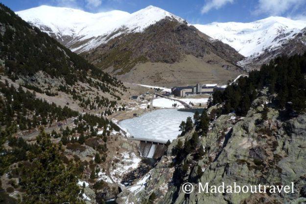 Valle de Núria nevado