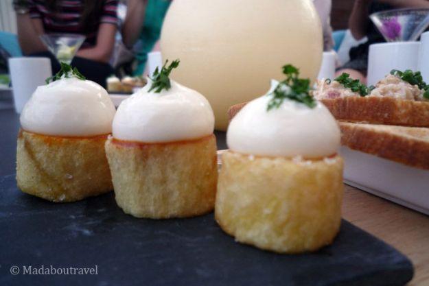 Patatas bravas en el restaurante Arola del Hotel Arts