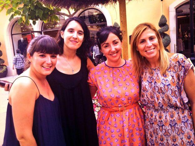 Con Cris de ArtandLife, Isabel de La 5th con Bleecker y Anna de La Vida es Rosa