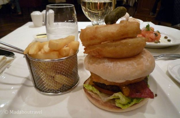 Burger at the Kingsmills Hotel