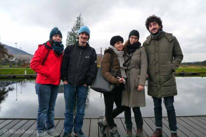 Compañeros de trabajo, amigos... y parte de mi familia en Escocia