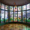 Vidriera de la Casa Lleó Morera de Barcelona