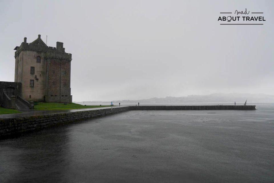 ruta en coche por escocia - castillo de broughty
