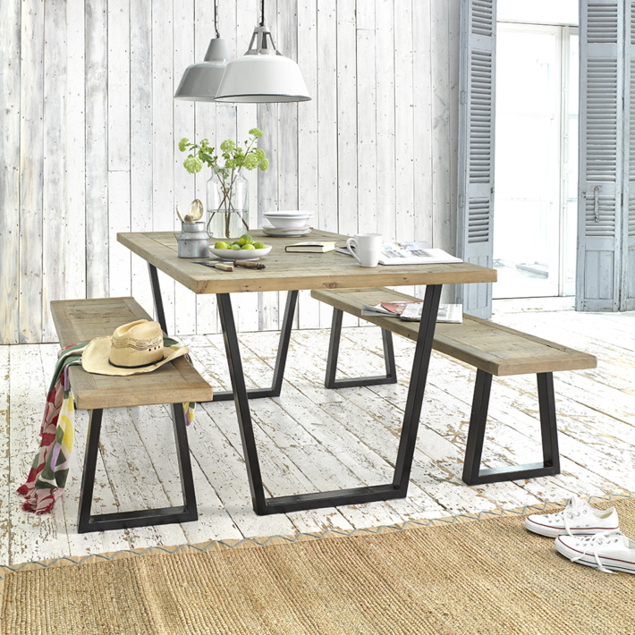 industrial style reclaimed wood table industrial kitchen style industrial chic decor furniture industrial
