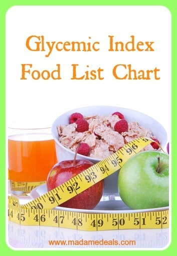 Glycemic Index Food List Chart - Real Advice Gal