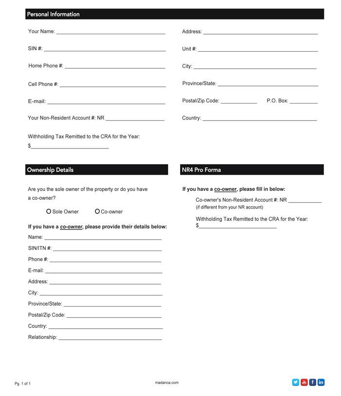NR4 Pro Forma Letter Checklist - Madan CA