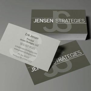 Jensen Strategies business card