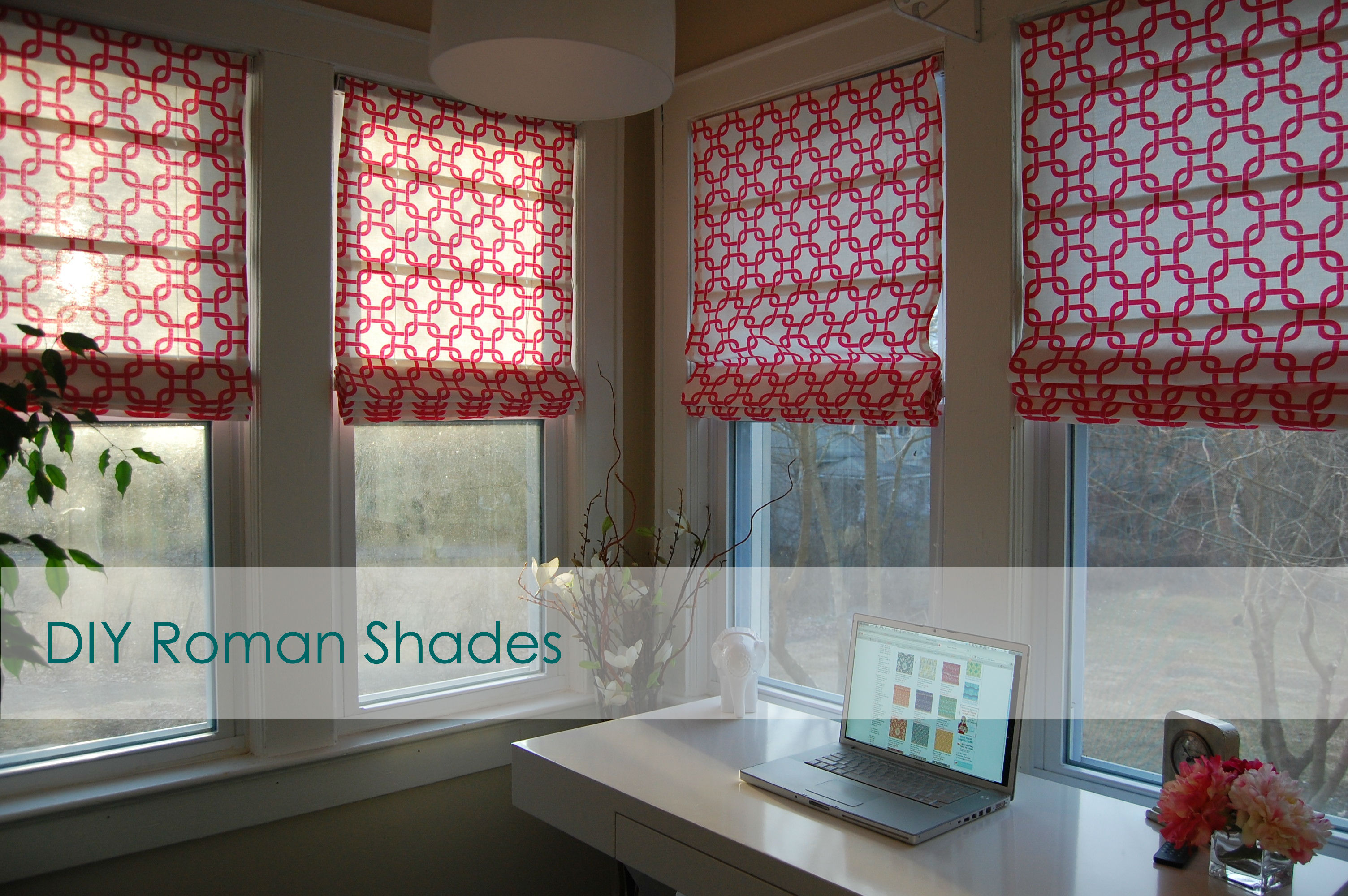 Diy Roman Shades Easy Diy Roman Shades