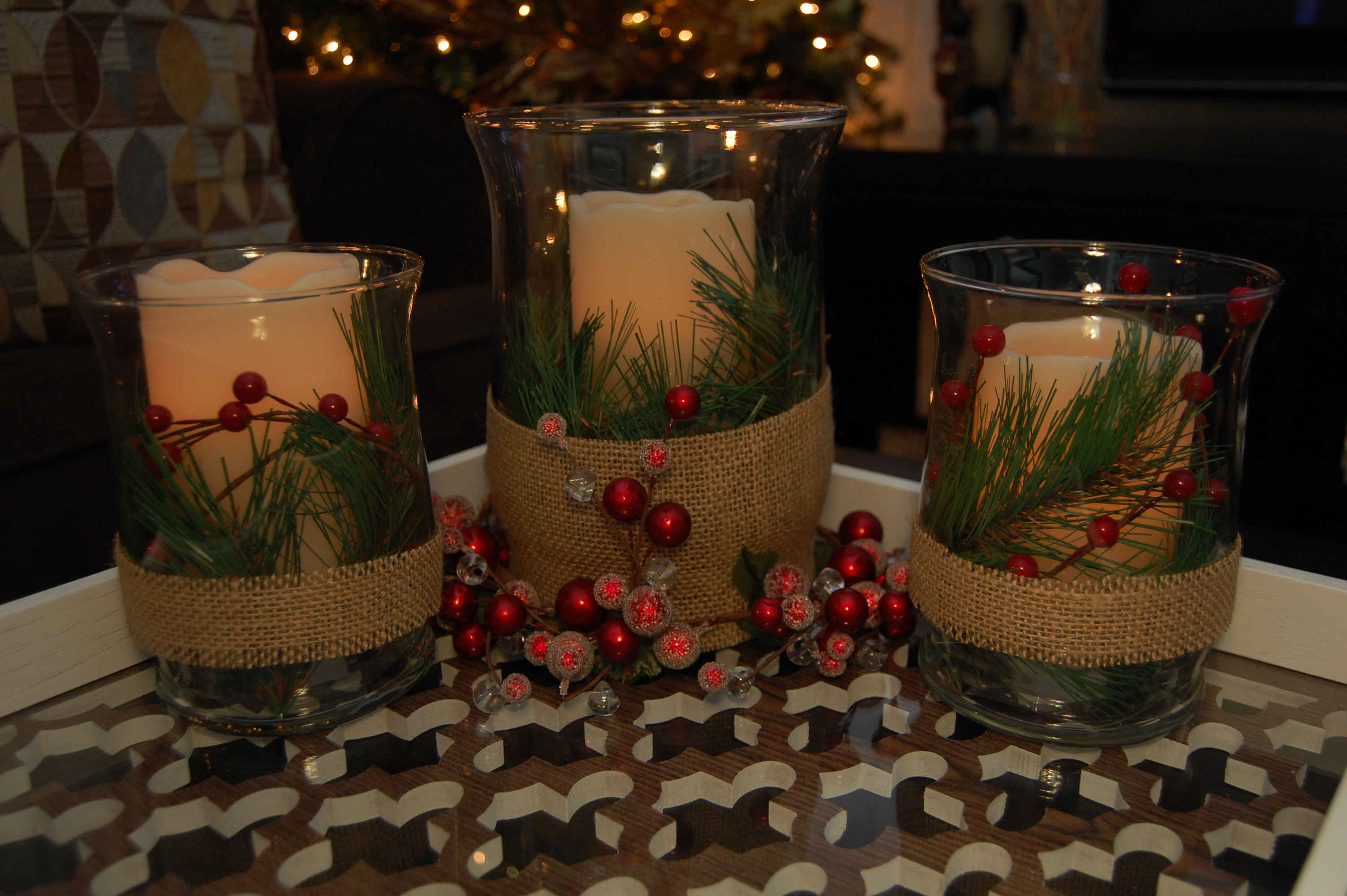 Decor Center Christmas Candle Centerpiece Made2style