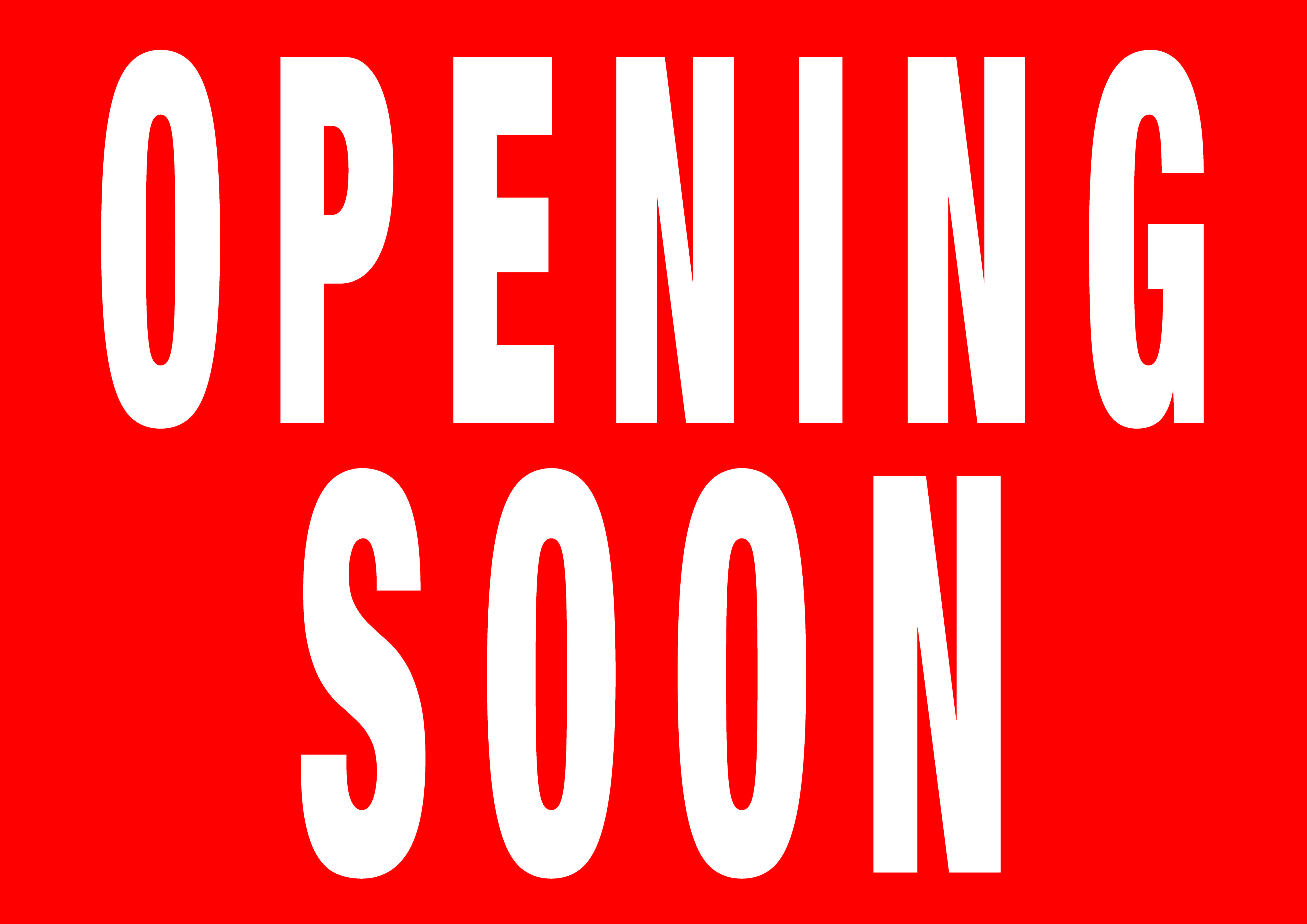 Poster A0 Opening Soon A0 Poster