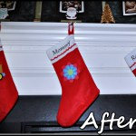 $1 Christmas Stockings to Personalized Stockings Display