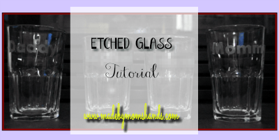 DIY Personalized Family Etched Glasses
