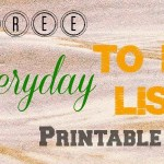 Free EVERYDAY TO DO List Printable