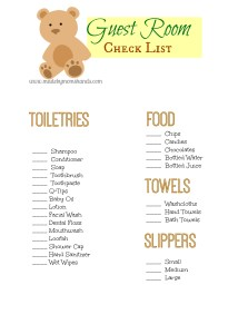 Guest Room Checklist