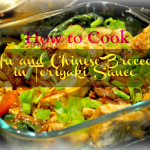 How to Cook Tofu and Chinese Broccoli in Teriyaki Sauce