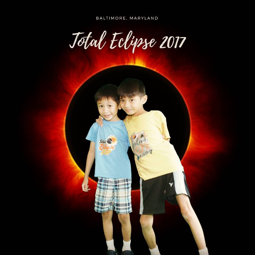 These boys enjoyed their first ever experience of the totalsolareclipse2017hellip