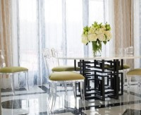 Baroque acrylic chair Contemporary Dining Room