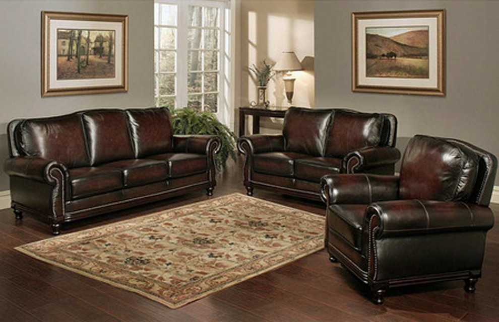 abbyson living in Living Room Contemporary with Top Grain Leather - leather living room set clearance